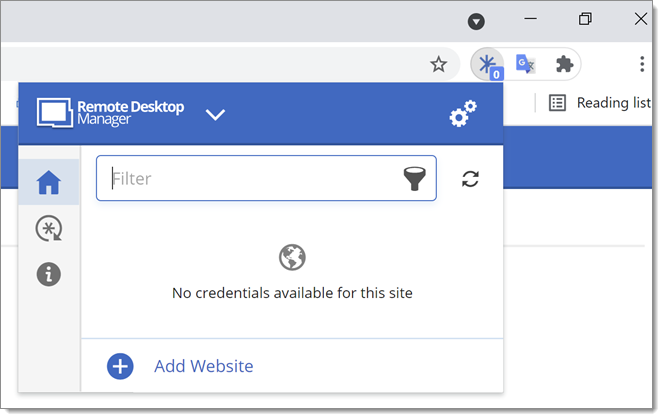 Devolutions Web Login in Chrome