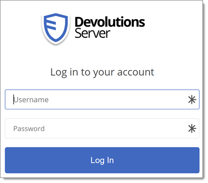 One Credential Login with Devolutions Web Login